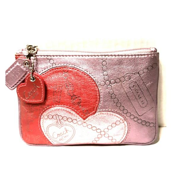 Coach Handbags - Coach Madison Jewel Metallic Leather Purple Heart